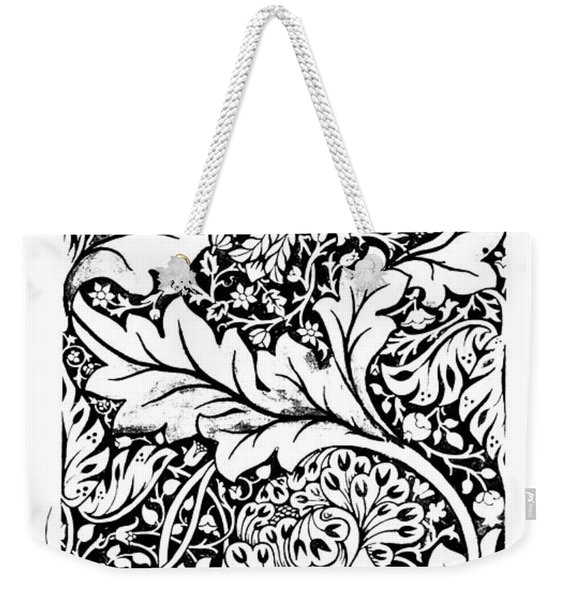 Vintage William Morris Textile Pattern Design Weekender Tote Bag