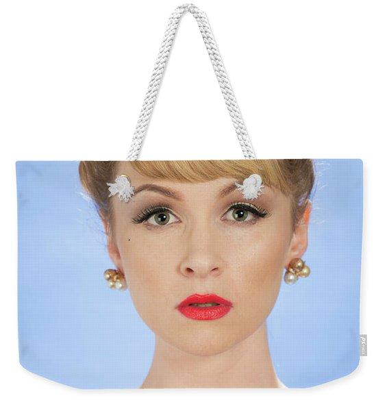 Vintage Woman Weekender Tote Bag