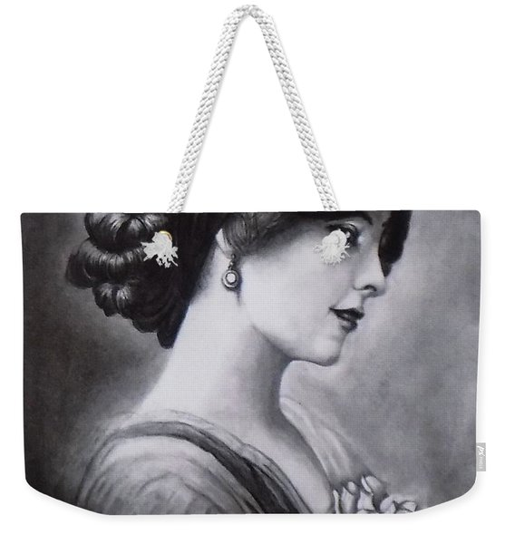 Vintage Woman Weekender Tote Bag