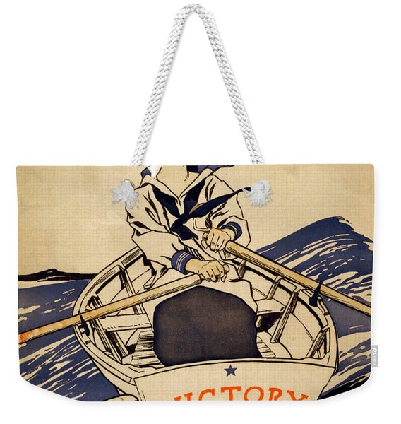 Vintage Women Rowboat Weekender Tote Bag