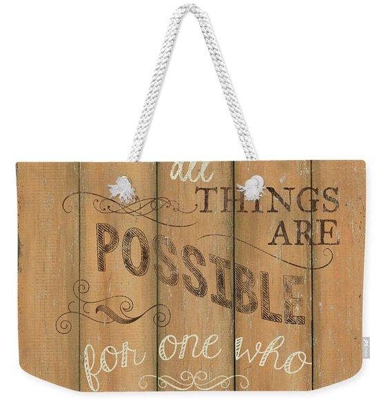 Vintage Wtlb Believe Weekender Tote Bag