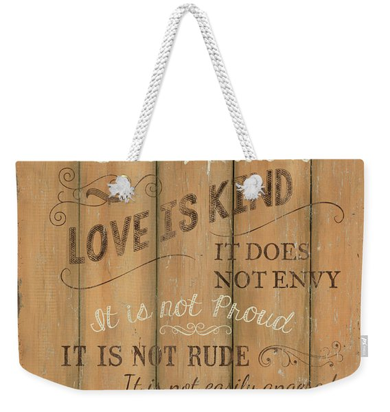 Vintage Wtlb Love Weekender Tote Bag