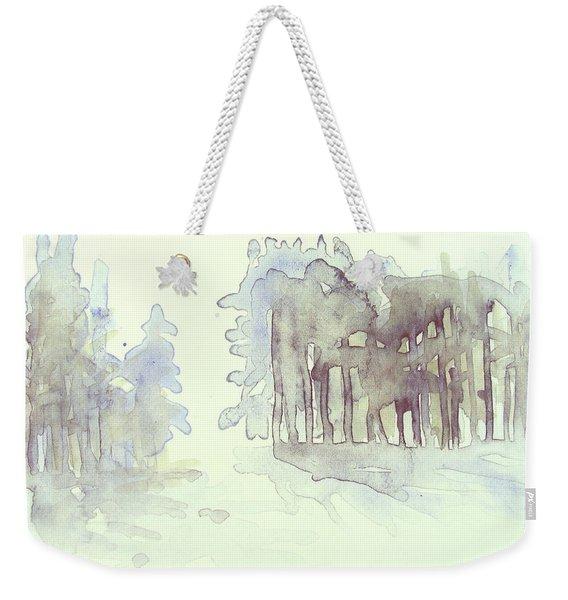 Vintrig Skogsglanta, A Wintry Glade In The Woods 2,83 Mb_0047 Up To 60 X 40 Cm Weekender Tote Bag