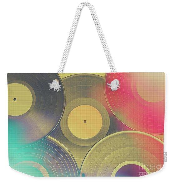 Vinyl Recordings Background Weekender Tote Bag