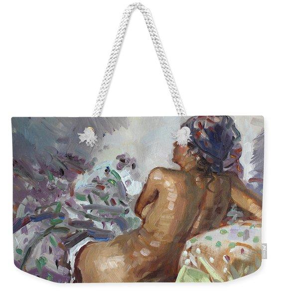 Nude In Violet Weekender Tote Bag