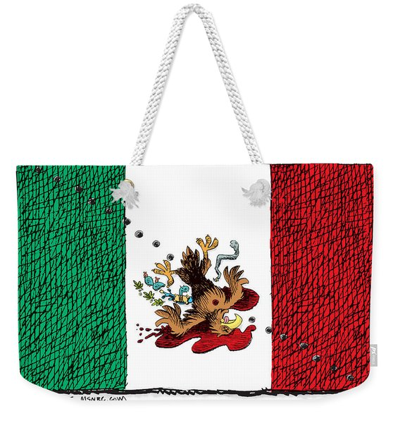 Violence In Mexico Weekender Tote Bag