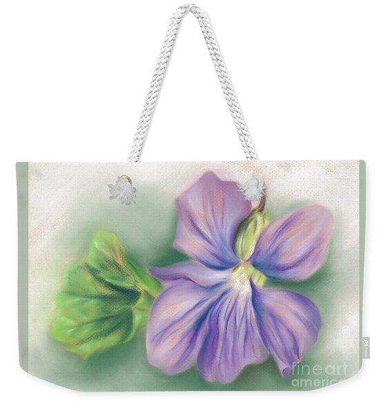 Violet And Leaf Weekender Tote Bag