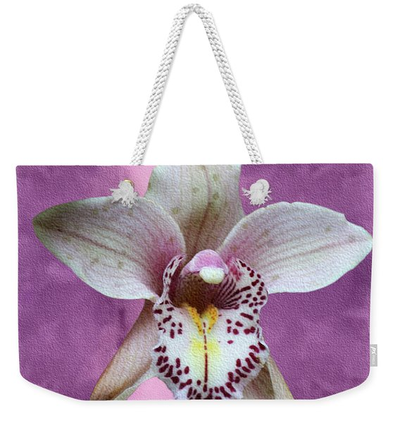 Violet Colored Lauritzen Orchid Weekender Tote Bag