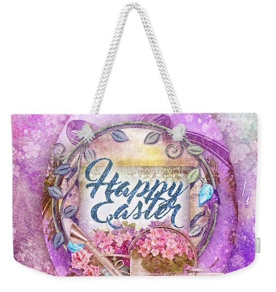 Violet Easter Weekender Tote Bag