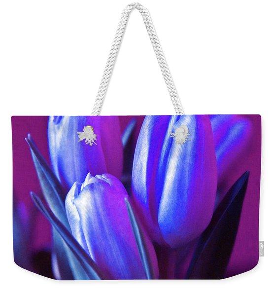 Violet Poetry Of Spring Weekender Tote Bag