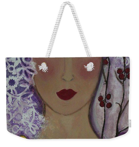 Violet Queen Weekender Tote Bag