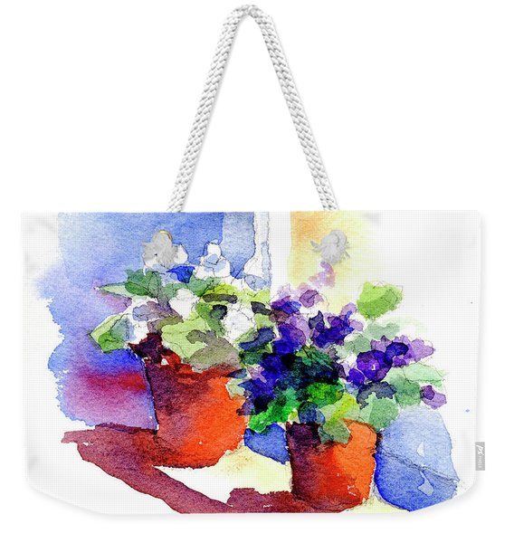 Violets Are Blue Weekender Tote Bag