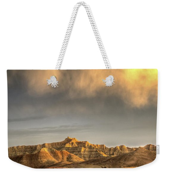 Virga Over The Badlands Weekender Tote Bag