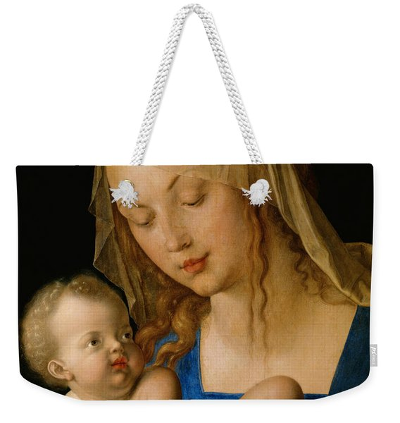 Virgin And Child With A Pear Weekender Tote Bag