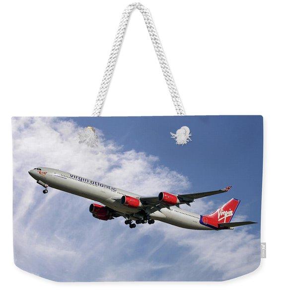 Virgin Atlantic Airbus A340-642 Weekender Tote Bag