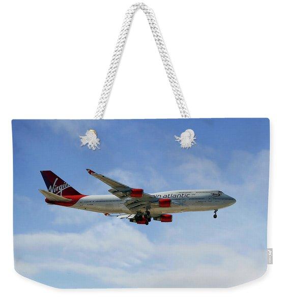 Virgin Atlantic Boeing 747-443 Weekender Tote Bag