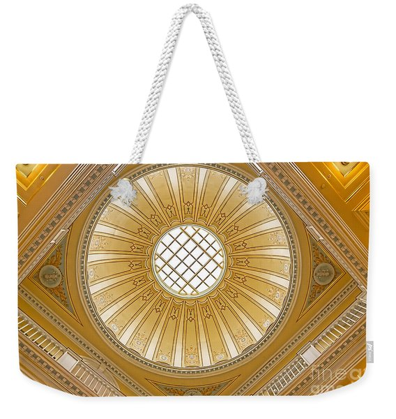 Weekender Tote Bag featuring the photograph Virginia Capitol - Dome by Jemmy Archer