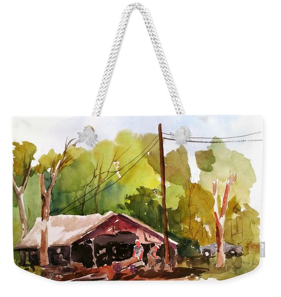 Virginia Saw Mill Weekender Tote Bag