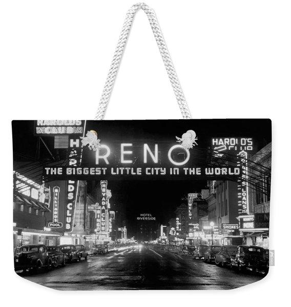 Virginia Street In Reno Weekender Tote Bag