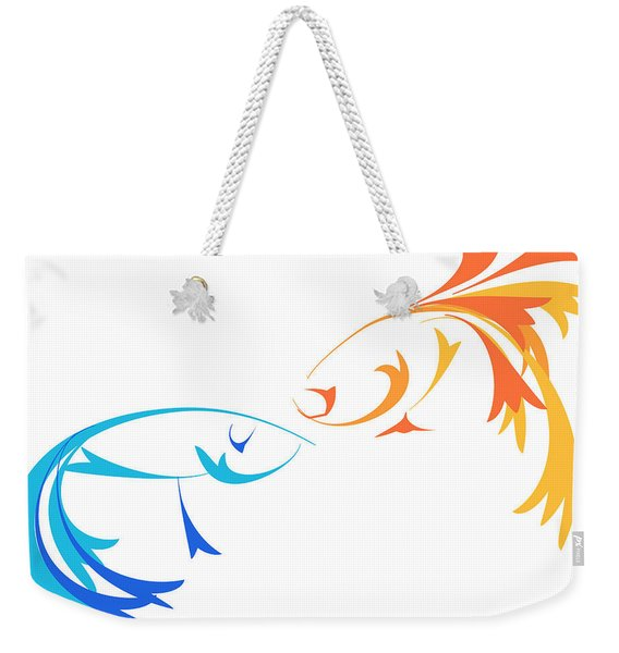 Virtual Fight Weekender Tote Bag