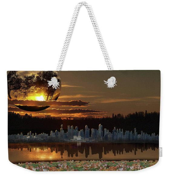 Virtual Vacation Weekender Tote Bag