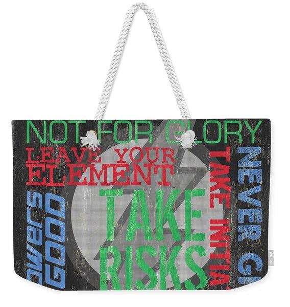 Virtues Of Superheroes Weekender Tote Bag