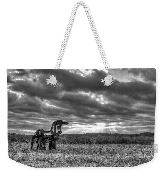 Visible Lights The Iron Horse Sunrise Art Weekender Tote Bag