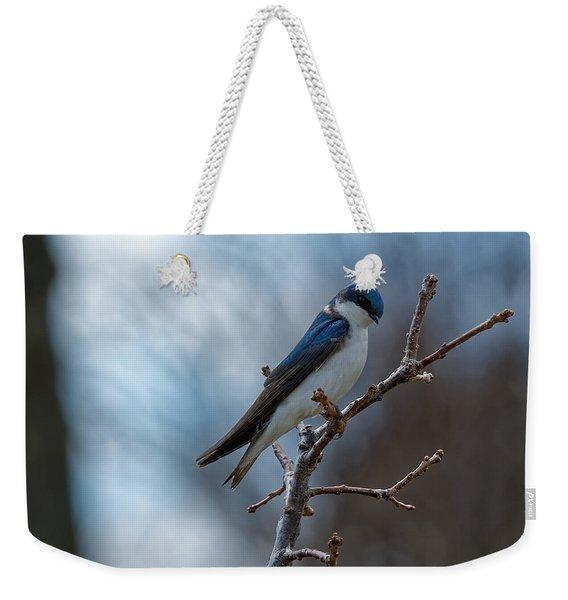 Vision In Blue Weekender Tote Bag