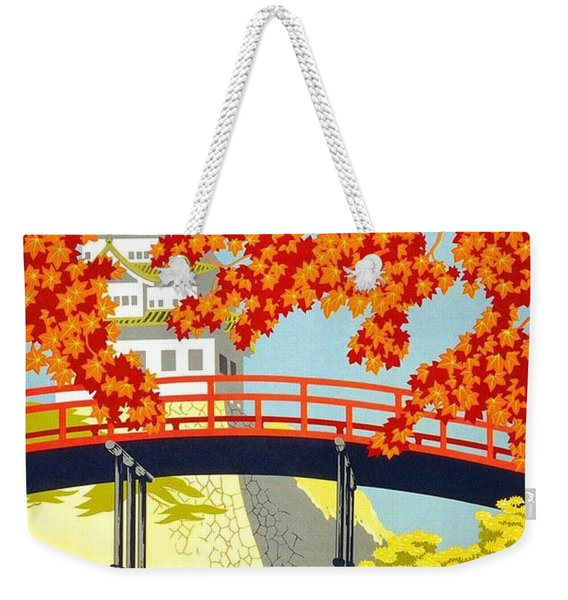 Visit Japan By Japan Mail - N.y.k Line - Retro Travel Poster - Vintage Poster Weekender Tote Bag