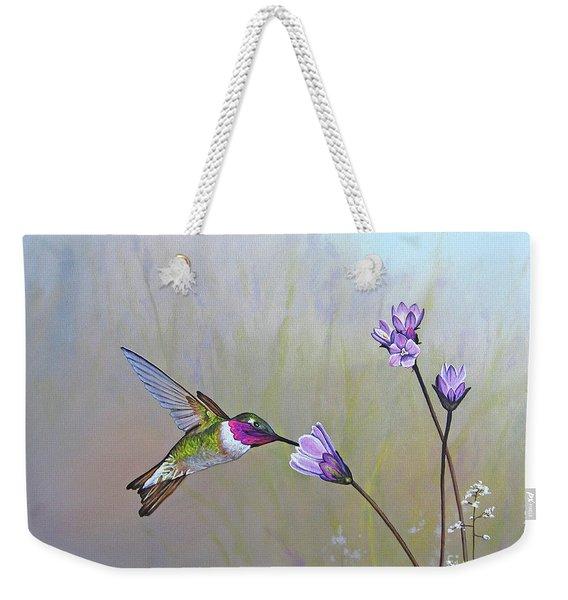 Visiting The Purple Garden Weekender Tote Bag