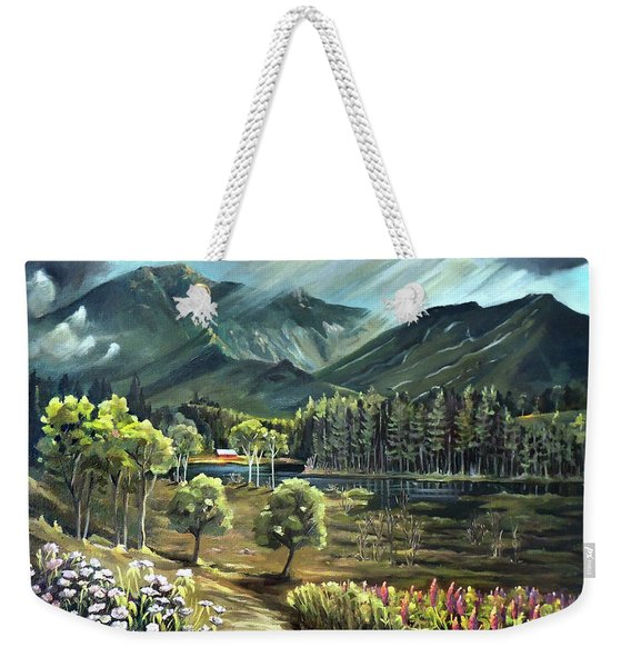 Vista View Of Cannon Mountain Weekender Tote Bag