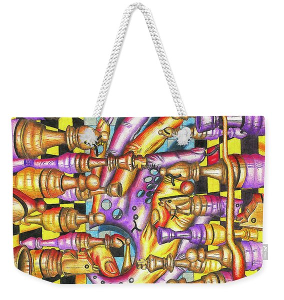 Visual Obstruction Of Probability Weekender Tote Bag
