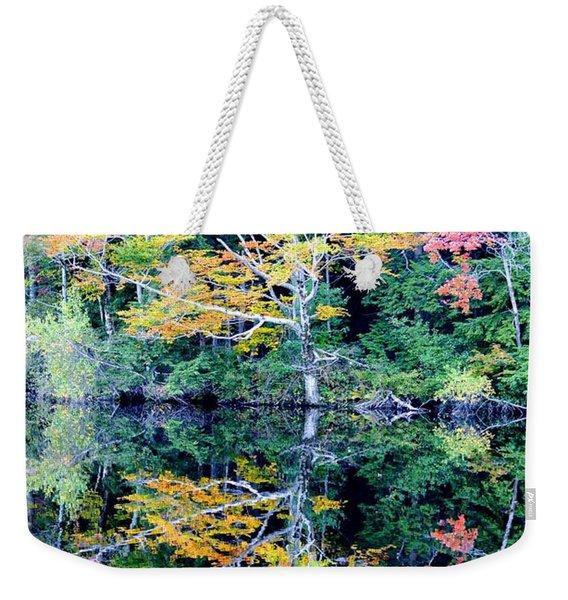 Vivid Fall Reflection Weekender Tote Bag