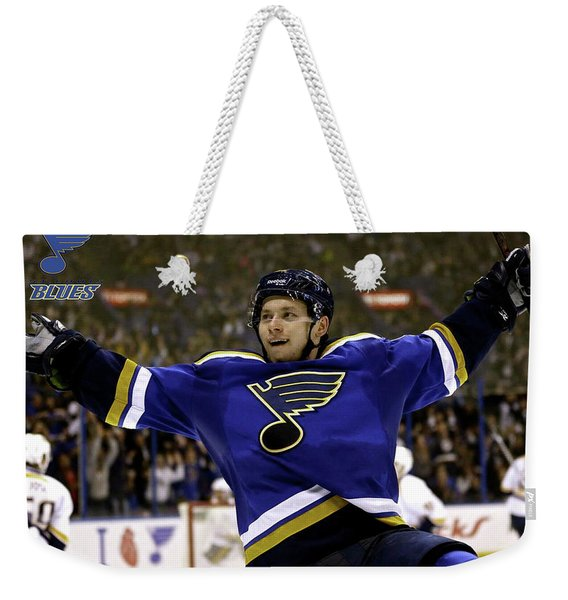 Vladimir Tarasenko, Number 91, St. Louis Blues Weekender Tote Bag