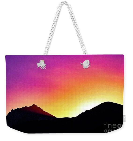 Volcanic Sunrise Weekender Tote Bag