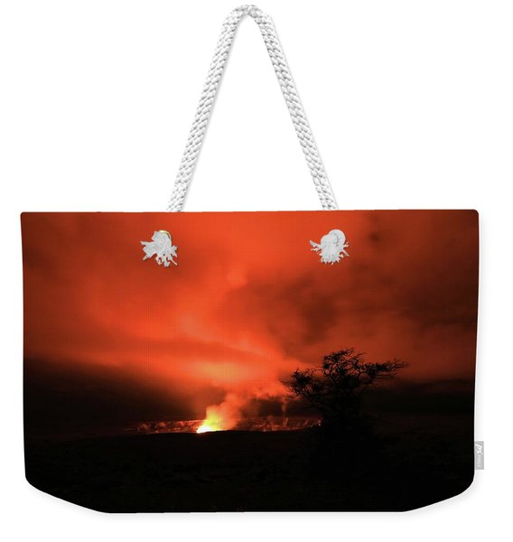 Volcano Under The Mist Weekender Tote Bag
