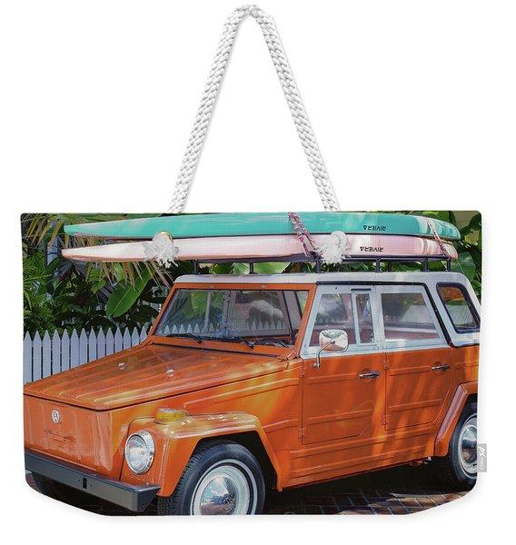 Volkswagen And Surfboards Weekender Tote Bag