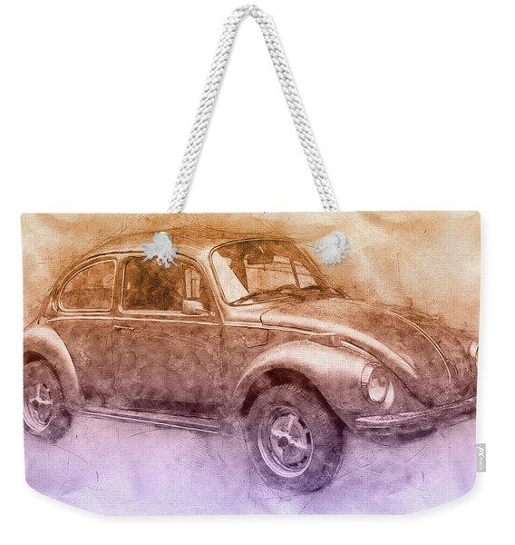 Volkswagen Beetle 2 - Beetle - Economy Car - 1938 - Automotive Art - Car Posters Weekender Tote Bag