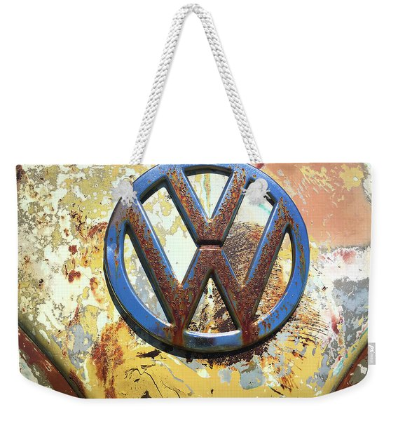 Volkswagen Vw Emblem With Rust Weekender Tote Bag
