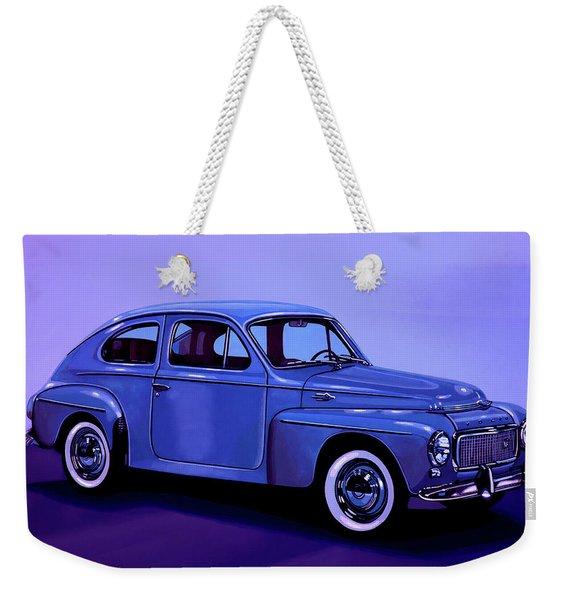 Volvo Pv 544 1958 Mixed Media Weekender Tote Bag