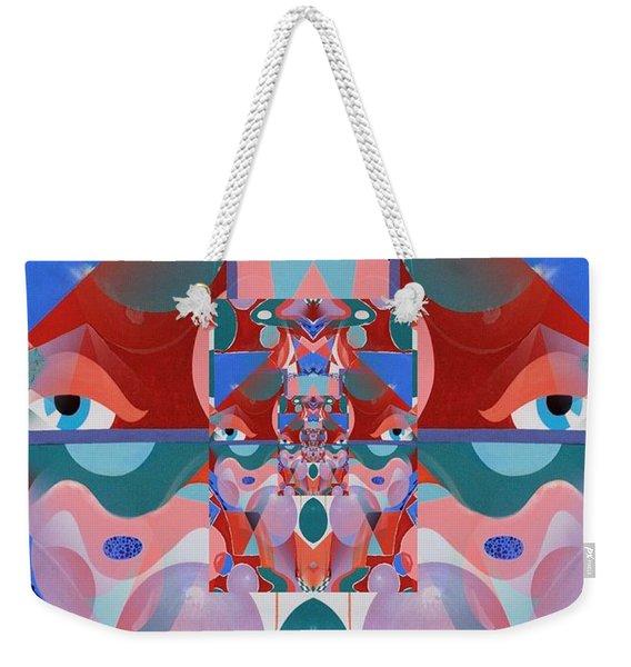 Abstract Vortex In Red Weekender Tote Bag