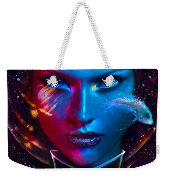 Voyager Beyond The Clouds Weekender Tote Bag