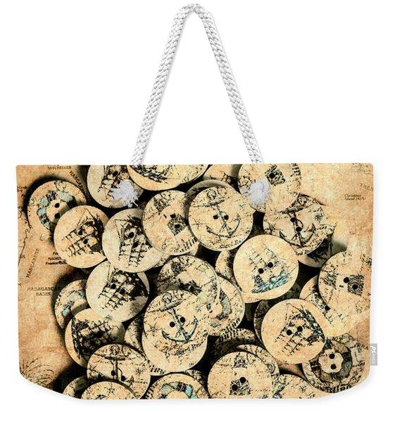 Voyages Of Old World Weekender Tote Bag
