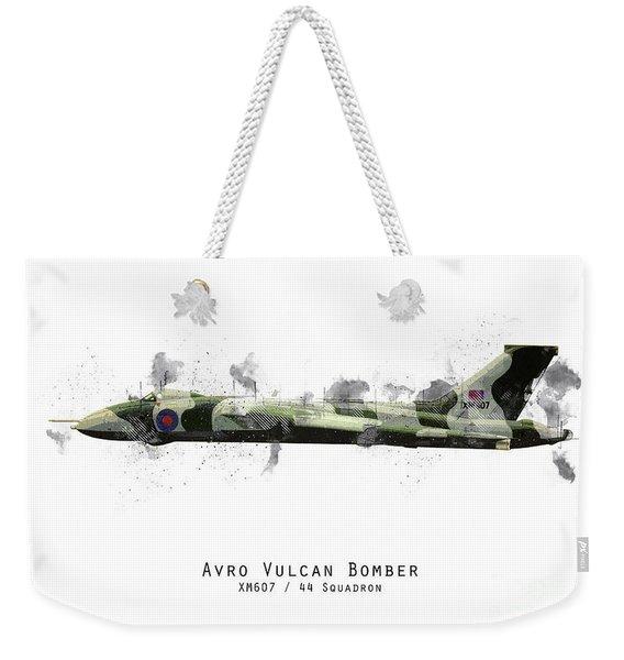 Vulcan Bomber Sketch - Xm607 Weekender Tote Bag