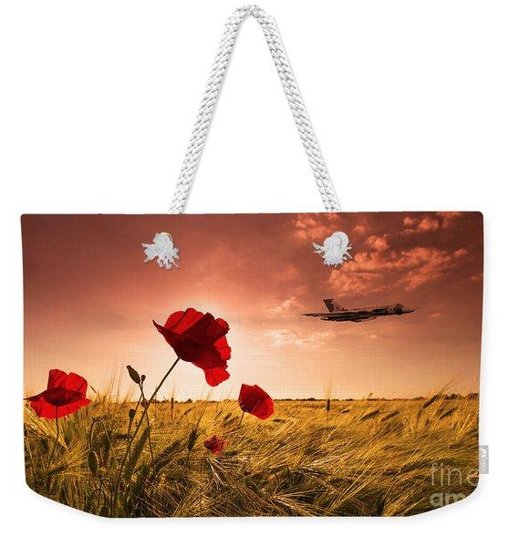 Vulcan Poppy Sunset Weekender Tote Bag