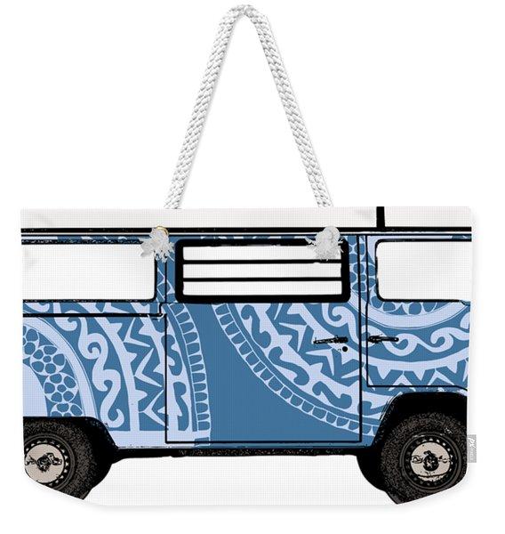 Vw Blue Van Weekender Tote Bag