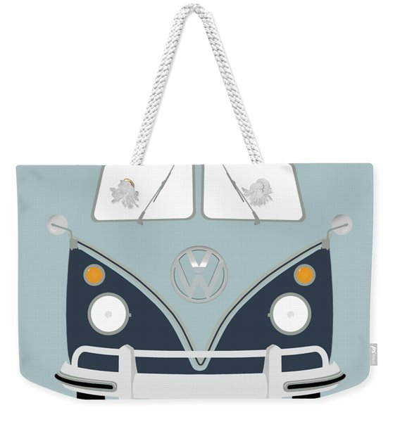 Vw Bus Blue Weekender Tote Bag