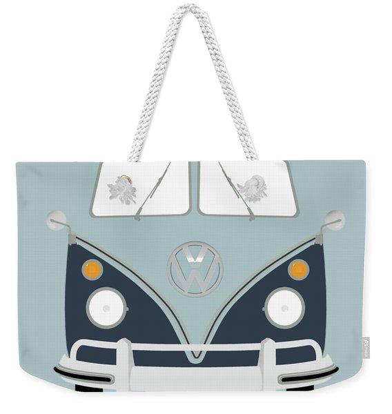 Vw Bus Blue Weekender Tote Bag