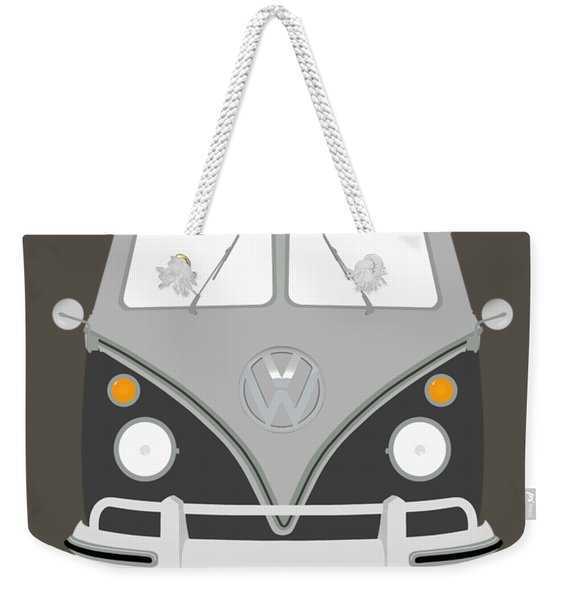 Vw Bus Grey Weekender Tote Bag