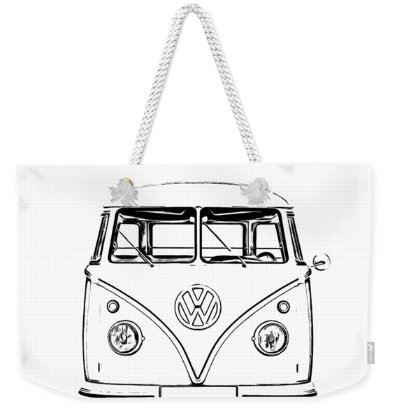 Weekender Tote Bag featuring the photograph Bus  by Edward Fielding